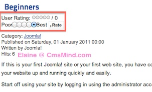cmsmind joomla 2 5 move vote below article 1 Joomla 2.5 Tutorial   How to Move Article Rating Voting to Bottom of Article