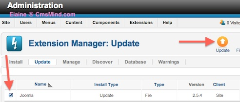 cmsmind joomla update now 2 Joomla 2.5 Error  1   An error has occurred . Copy failed