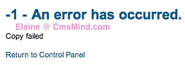 cmsmind joomla update now 3 Joomla 2.5 Error  1   An error has occurred . Copy failed