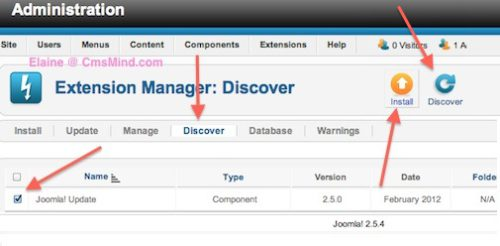 cmsmind joomla update now error 10 Joomla 2.5 Error  1   An error has occurred . Copy failed