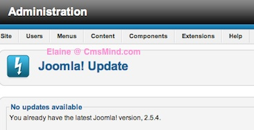 Joomla 2.5 - Update has no errors