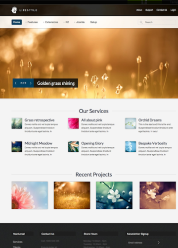 joomla 2 5 template photography portfolio lifestyle Elegant Joomla 2.5 Portfolio Template   Lifestyle