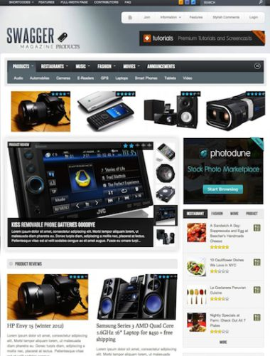wordpress review theme swagmag 2012 Wordpress Review Themes perfect to create Rating Reviews Website 2012