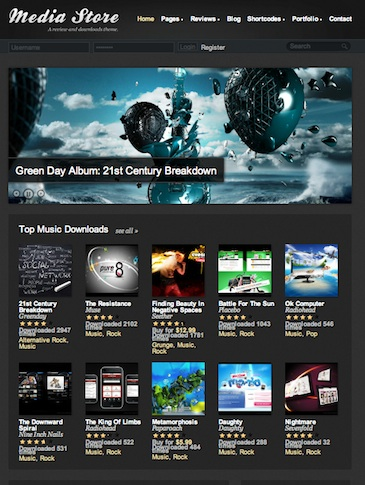 wordpress review themes media store 2012 Wordpress Review Themes perfect to create Rating Reviews Website 2012