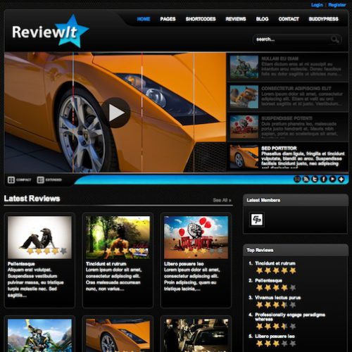 wordpress review themes reviewit 2012 Wordpress Review Themes perfect to create Rating Reviews Website 2012