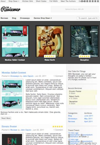 wordpress review themes the reviewer 2012 Wordpress Review Themes perfect to create Rating Reviews Website 2012