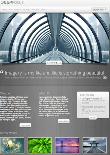 wordpress theme photography portfolio photo gallery deep focus Website Clones and Templates