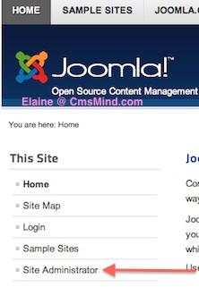 Joomla 2.5 - Remove Site Administrator Link from Menu