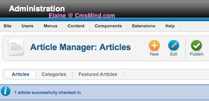 cmsmind joomla 2 5 checkout error 3 Joomla 2.5 Errors   Check out failed with the following error