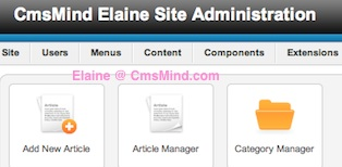 cmsmind joomla show site title administrator 1 Joomla 2.5 Tutorial   How to Add Site Title to Administrator Bar