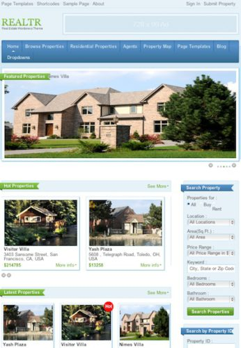mls clone real estate template realtr Best Real Estate Themes
