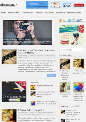 Wordpress minimalistic theme magazine blog minimalistic Website Clones and Templates