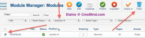 cmsmind joomla 2 5 contribute banner module Joomla 2.5 Tutorial   How to Remove Contribute!, Books!, Shop! Banners