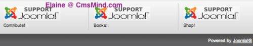 Joomla 2.5 Banners - Contribute! Shop! Books!
