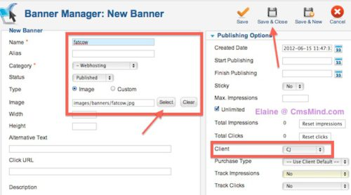 cmsmind joomla 2 5 create new banner banner 2 Joomla 2.5 Tutorial   How To Add Banners To Website