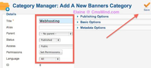 cmsmind joomla 2 5 create new banner category 2 Joomla 2.5 Tutorial   How To Add Banners To Website