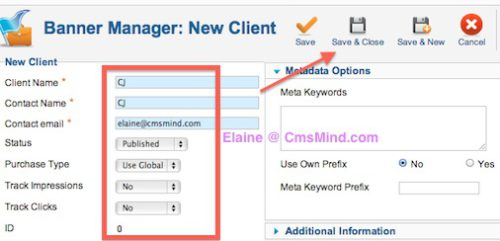 cmsmind joomla 2 5 create new banner client 2 Joomla 2.5 Tutorial   How To Add Banners To Website