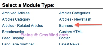 cmsmind joomla 2 5 create new banner module 1 Joomla 2.5 Tutorial   How To Add Banners To Website