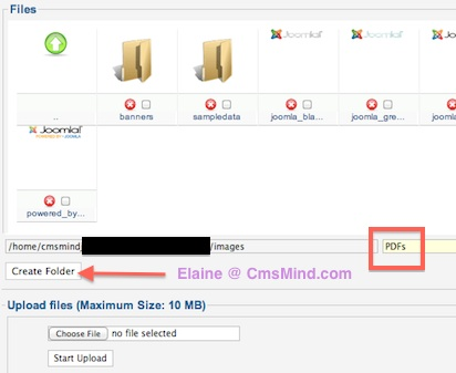 cmsmind joomla 2 5 insert PDF file in Article 1 Joomla 2.5 Tutorials   How to Add Link to a PDF File in Joomla