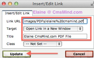 cmsmind joomla 2 5 insert PDF file in Article 7 Joomla 2.5 Tutorials   How to Add Link to a PDF File in Joomla