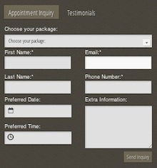 Appointment Booking Feature in the Salon and Spa Template