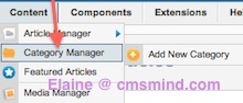 Joomla 2.5 - Category Manager