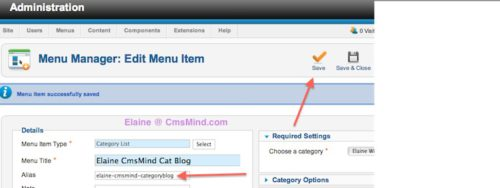 joomla 2 5 cmsmind save failed same parent same alias 5 Joomla 2.5   How to Delete a Menu Item Alias   Parent has this alias