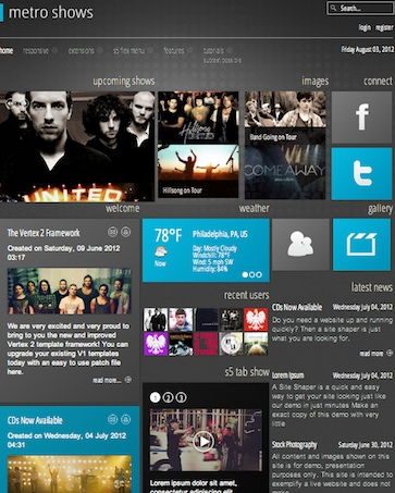 Music Band Website - Joomla Template Metro Shows