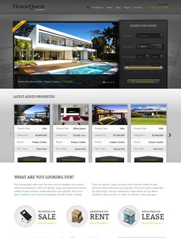 Real Estate & Broker Template - Home Quest