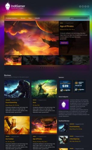 review template wordpress indigamer 1 Cost to Make a Gaming Review Website with Review Template   IndiGamer