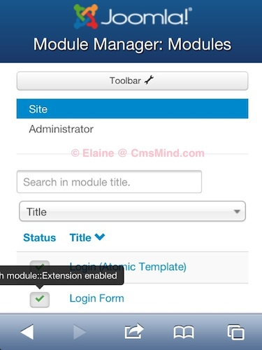 Joomla 3 0 module manager disable login form module 2 Joomla 3.0 Tutorial   How to Remove the Login Form from the frontpage
