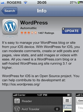 Free Download WordPress Iphone App