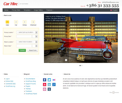car hire online booking wordpress theme 1 Cost to Create Car Rental Agency Website with Wordpress Car Hire