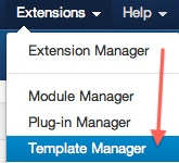 Joomla 3.0 - Go to the Template Manager