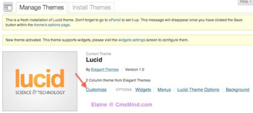 customize lucid responsive blog wordpress theme 1 Create a Website with Responsive Blog Layout with Wordpress   Lucid
