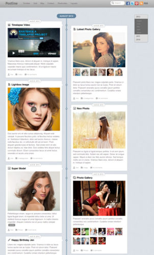 facebook timeline responsive wordpress theme postline 1 Cost to create a Facebook Timeline Website with Wordpress Postline