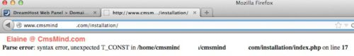 install joomla 3 0 beta parse error 1 Installing Joomla 3.0 Beta 1   First Trial   Parse Error