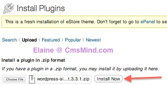 install plugin paypal ecommerce plugin 2 How to create an Online store with eStore Wordpress Theme
