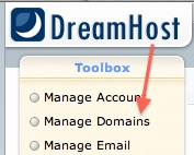 Manage Domains in Dreamhost - change PHP version