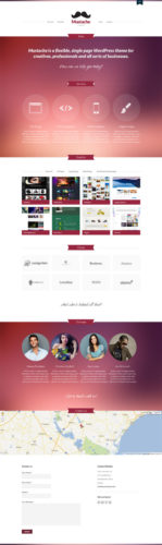 responsive business wordpress theme mustache Cost to Make a Business Website with Business Template Mustache