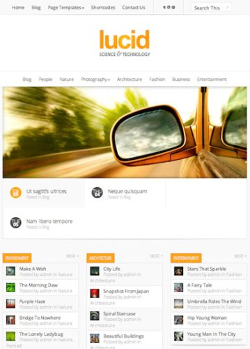 responsive magazine template lucid 1 Create a Website with Responsive Blog Layout with Wordpress   Lucid