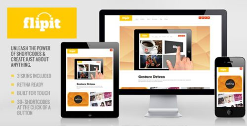 responsive phtotography template flipit 2 Create an Amazing Photography Website with Photography Template Flipit