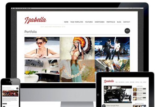 responsive portfolio template magazine template izabella1 Cost to Create a Portfolio Website with Izabella Wordpress Theme