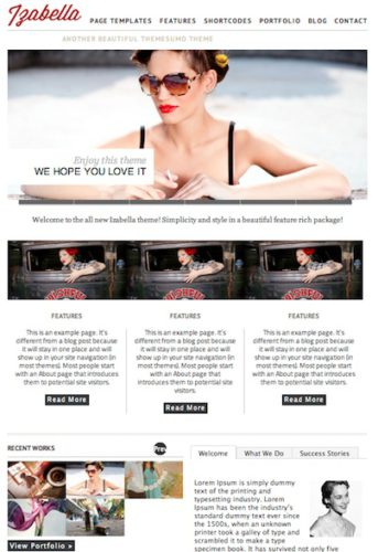 responsive portfolio template magazine template izabella2 Create a Portfolio Website with Izabella Wordpress Theme