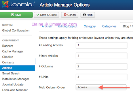 cmsmind order featured articles 4 Ordering Featured Articles in Joomla 3.0