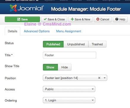 joomla 3 0 cmsmind create new footer module 3 How to Add a Footer to Joomla 3.0