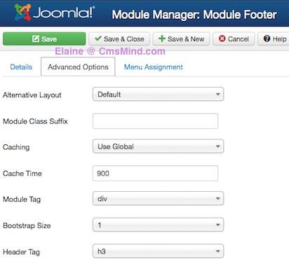 joomla 3 0 cmsmind create new footer module advanced 4 How to Add a Footer to Joomla 3.0