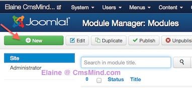 joomla 3 0 cmsmind create new module 1 How to Add a Footer to Joomla 3.0