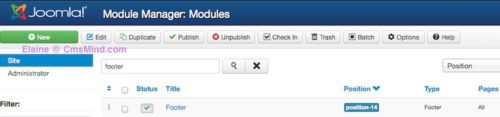 joomla 3 0 cmsmind new footer module created 6 How to Add a Footer to Joomla 3.0