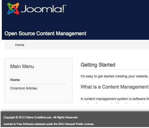 joomla 3 0 footer frontend 9 How to Add a Footer to Joomla 3.0